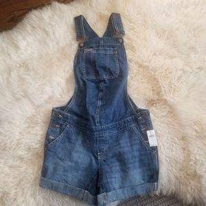 Maternity denim overalls